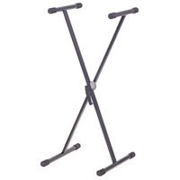 XTREME KS125C Single Brace Keyboard Stand X Style Height to 97cm in Black
