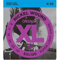 DADDARIO EXL120 Electric Guitar String Set Nickel Wound 09-42