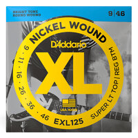 DADDARIO EXL125 Electric Guitar String Set 09-46 Nickel Wound
