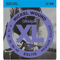 DADDARIO EXL115 Electric Guitar String Set 11-49 Nickel Wound Jazz Rock