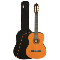 ASHTON SPCG34L Left Handed 3/4 Size Classical Guitar Starter Pack in Amber