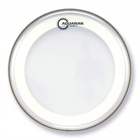 AQUARIAN MRS2-12 SUPER 2-12 Inch Drum Head Clear with Studio-X Ring