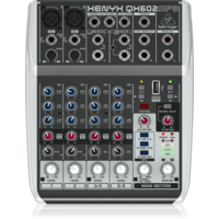 BEHRINGER XENYX QX602MP3 6 Channel Mixer with MP3 Player (2 x XLR)