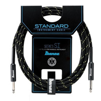 IBANEZ SI10 SI 20 Foot Woven Guitar Cable in Black and Gold