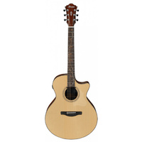 IBANEZ AE275 6 String Acoustic/Electric Guitar with Cutaway in Natural Low Gloss