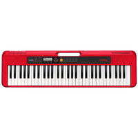 CASIO CASIOTONE CTS200RD 61 Note Portable Keyboard Red CT-S200RD