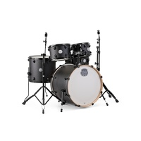 MAPEX STORM ST5295FBIZ 5 Piece Drum Kit 22 Inch Bass Drum 10 12 16 and 14 Inch Snare in Textured Black with Black Hardware