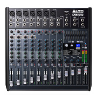 ALTO PROFESSIONAL LIVE1202 12 Channel 2-Bus Mixer 7 x XLR with USB and Effects