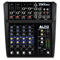 ALTO ZMX862 6 Channel Compact mixer with 2 X XLR No USB
