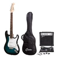 CASINO 6 String Strat-Style Electric Guitar and 15-Watt Amp Pack in Blueburst CP-E1-BLS