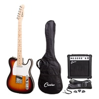 CASINO 6 String Tele-Style Electric Guitar and 15-Watt Amp Pack in Tobacco Sunburst CP-TL1-TSB
