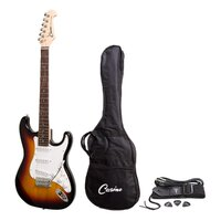 CASINO Strat Style Electric Guitar Bag/Strap/Cable and Picks Set in Tobacco Sunburst CST-22
