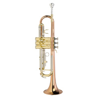 STEINHOFF KSO-TR40-GLD Intermediate B Flat Trumpet Rose Brass in Clear Lacquer with Case