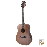 MARTINEZ NATURAL 6 String Dreadnought Guitar with Mahogany Top MND-15-MOP