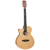 TANGLEWOOD ROADSTER 2 6 String Left Hand Super Folk/Electric Shape Guitar with Cutaway Cedar Top TWR2SFCELH
