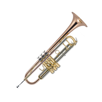 J MICHAEL 07320 Student B Flat Trumpet in Clear Lacquer with Case