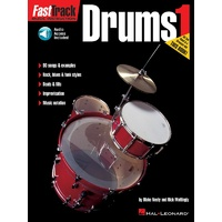 FASTTRACK Drums Method Book 1 Book and Online Audio