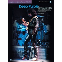 DEEP PURPLE Greatest Hits Signature Licks Series Book and CD