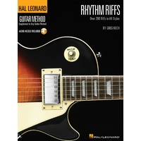 HAL LEONARD Guitar Method Rhythm Riffs Book & CD