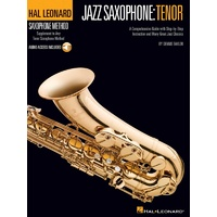 HAL LEONARD Jazz Saxophone Tenor Saxophone Method Book and CD