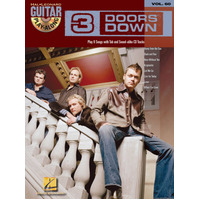 3 DOORS DOWN Guitar Playalong Book & CD with TAB Volume 60