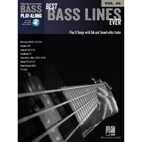 BEST BASS LINES EVER Bass Playalong Book with Online Audio Access & TAB Volume 46