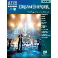 DREAM THEATER Bass Playalong Book with Online Audio Access & TAB Volume 47