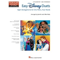 HAL LEONARD STUDENT PIANO LIBRARY Easy Disney Duets Popular Songs