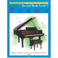 ALFRED BASIC PIANO LIBRARY Recital Book Level 5 By Lethco, Manus & Palmer