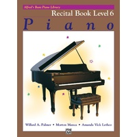 ALFRED BASIC PIANO LIBRARY Recital Book Level 6 By Lethco, Manus & Palmer