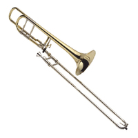 J MICHAEL ATB700MO Student B Flat Tenor Bass Trombone in Clear Lacquer with Case