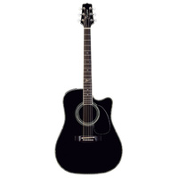 TAKAMINE ARTIST SIGNATURE STEVE WARINER 6 String Acoustic/Electric Guitar with Cutaway in Black TSW341SC