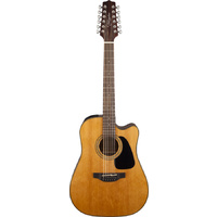 TAKAMINE GD30CE12 12 String Dreadnought Acoustic/Electric Guitar with Cutaway in Natural TGD30CE12NAT