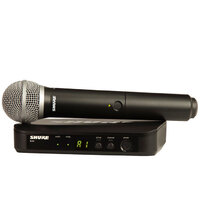 SHURE BLX24PG58-M17 Hand Held Wireless Microphone System with PG58 Vocal Mic M17 Bands
