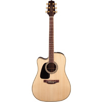 TAKAMINE GD51CELH 6 String Left Hand Acoustic/Electric Guitar with Cutaway in Natural TGD51CENATLH