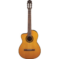 TAKAMINE G SERIES GC1CELH Left Handed Classical Electric Guitar With Cutaway Natural Gloss Finish Spruce Top