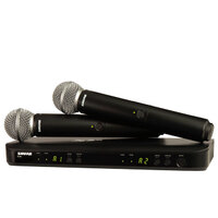 SHURE BLX288SM58M17 Dual Hand Held Wireless Microphone System with 2 x SM58 Vocal Mics M17 Band