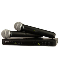 SHURE BLX288PG58M17 Dual Hand Held Wireless Microphone System with 2 x PG58 Vocal Mics M17 Band