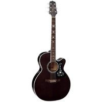TAKAMINE GN75CE 6 String Jumbo Acoustic/Electric Guitar with Cutaway in Transparent Black TGN75CETBK