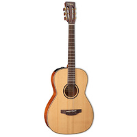 TAKAMINE CUSTOM PRO 3 6 String Parlour Acoustic/Electric Guitar in Natural Satin TCP400NYK