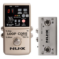 NUX CORE STOMPBOX Loop Core Deluxe Bundle Includes Loop Core Deluxe and Dual Foot Switch