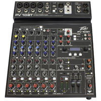 PEAVEY 10BT 10 Channel Mixer with Digital FX, Bluetooth and 4 x XLR's