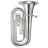 JUPITER JTU700S 3/4 Size Double B Flat Tuba Silver Plated Brass Body with Case