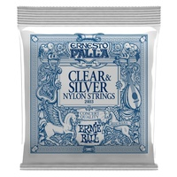 ERNIE BALL 2403 ERNESTO PALLA Classical Guitar String Set 28-42 Clear and Silver Nylon