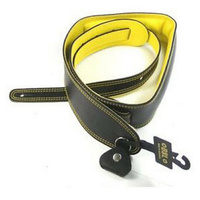 DSL 2.5 Inch Padded Garment Strap in Black with Yellow Stitch