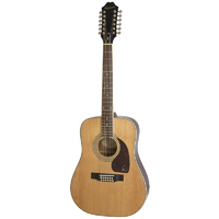 EPIPHONE DR-212 12-String Acoustic Guitar in Natural
