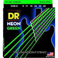 DR HI-DEF NEON GREEN 9/42 Electric Strings Set Light NGE-9