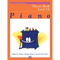 ALFREDS BASIC PIANO LIBRARY Piano Theory Book Level 1A by Willard Palmer