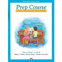 ALFREDS BASIC PIANO LIBRARY Prep Course Theory Book Level B