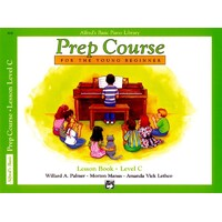 ALFREDS BASIC PIANO LIBRARY Prep Course Lesson Book Level C